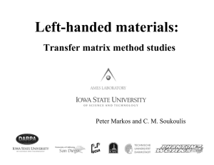 Left-handed materials: