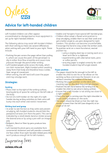 Advice for left-handed children 48.4 KB PDF