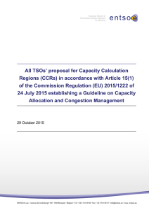 All TSOs` proposal for Capacity Calculation Regions (CCRs) - entso-e
