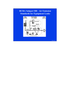 RCRA Subpart BB - Air Emission Standards for Equipment Leaks
