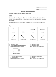 Diagrams Showing Directions Worksheet