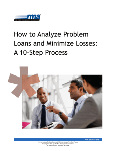 How to Analyze Problem Loans and Minimize Losses: A 10