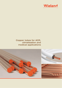 Copper tubes for ACR, climatisation and medical - Wieland