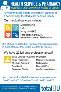 exceptional care conveniently located on campus.