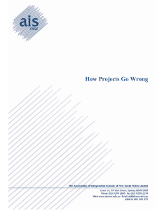 How Projects Go Wrong