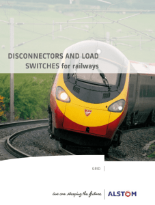 DISCONNECTORS AND LOAD SWITCHES for railways