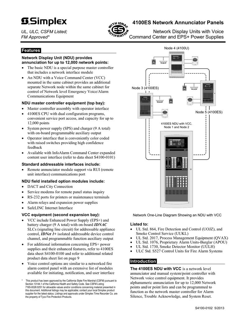 4100es network annunciator panels
