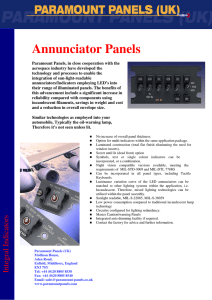 Annunciator Panels - Defence Industries