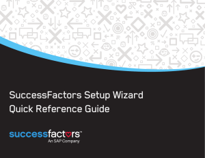 SuccessFactors Setup Wizard Quick Reference Guide