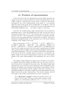 14. Products of representations