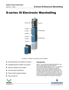 S-series IS Electronic Marshalling