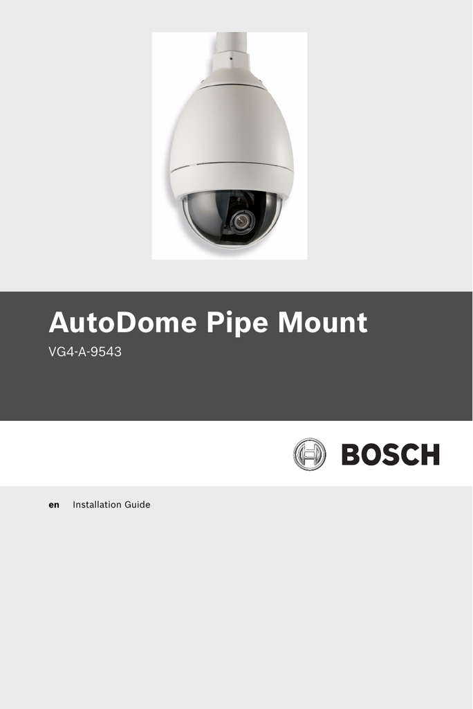 autodome pipe mount bosch security systems