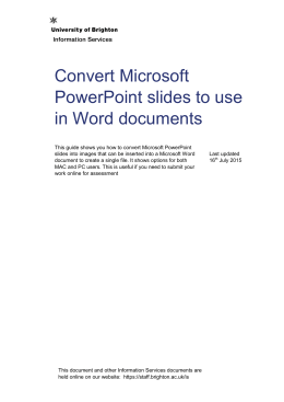 Convert Microsoft PowerPoint slides to use in Word documents