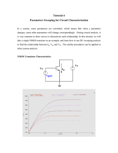 Tutorial 4 Parameters Sweeping for Circuit Characterization