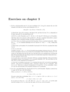 Exercises on chapter 3