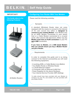 Configuring Your Router With Your ADSL Or Cable Modem