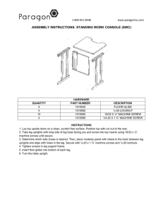 ASSEMBLY INSTRUCTIONS: STANDING WORK CONSOLE (SWC)