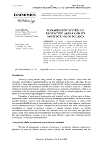 management system of protected areas and its monitoring in poland