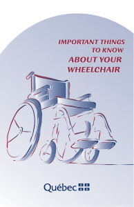 Important things to know about your wheelchair