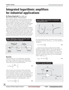 Integrated logarithmic amplifiers for industrial