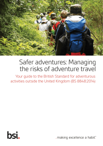 Safer adventures: Managing the risks of adventure travel