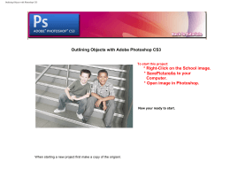 Outlining Objects with Photoshop CS3