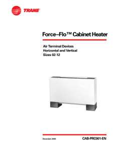 Force–Flo™ Cabinet Heater