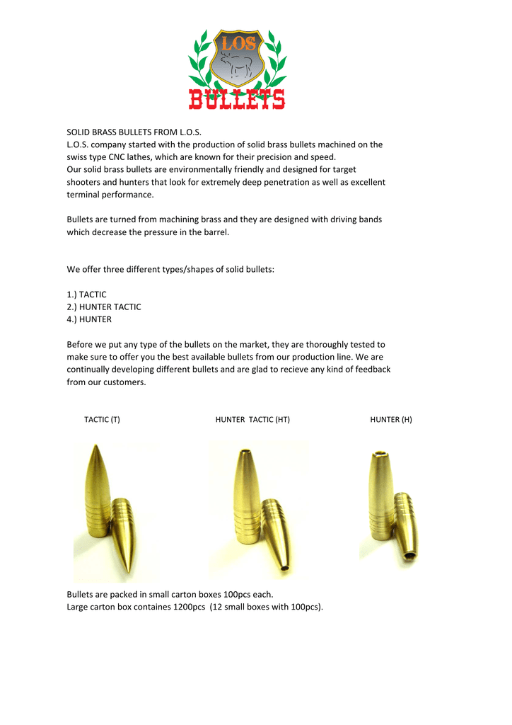 SOLID BRASS BULLETS xlsx