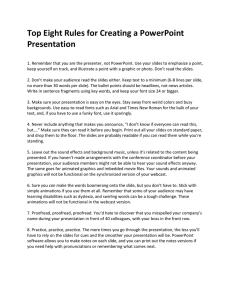 Top 8 Rules for PowerPoint Presentations