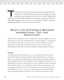 What`s the Difference Between Informational Text and Nonfiction?