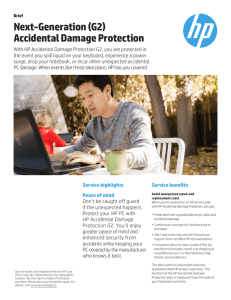 Next-Generation (G2) Accidental Damage Protection