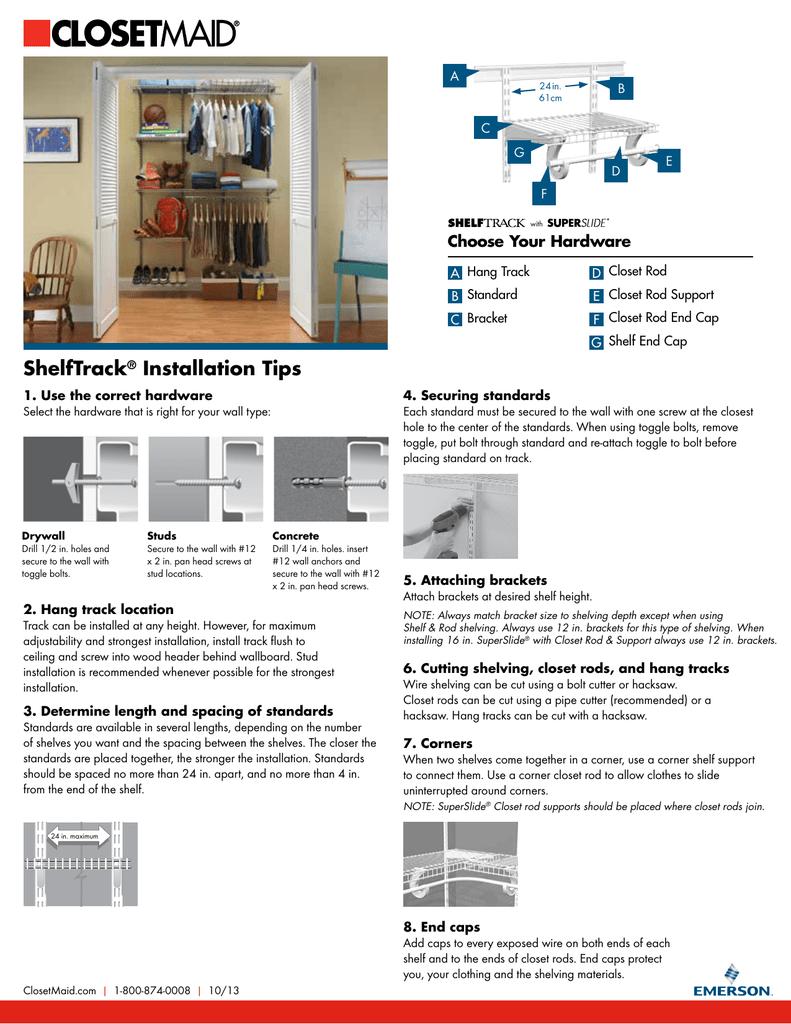 Shelftrack Installation Tips