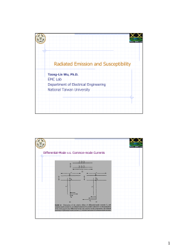 Radiated Emission and Susceptibility