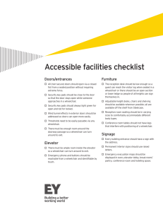 Accessible facilities checklist