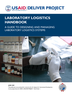 laboratory logistics handbook a guide to