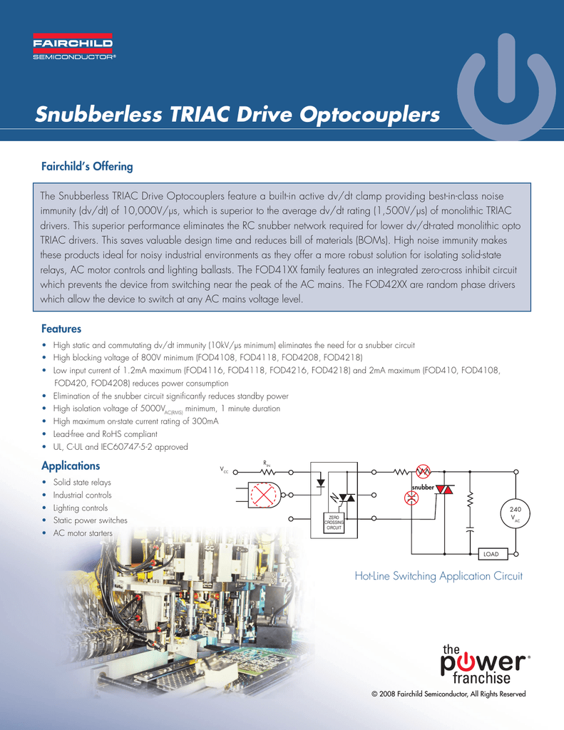 Snubberless Triac Drive Optocouplers Snubber Circuit The Could Be A 018226997 1 D576137561e382ea322831d5c898a4ac