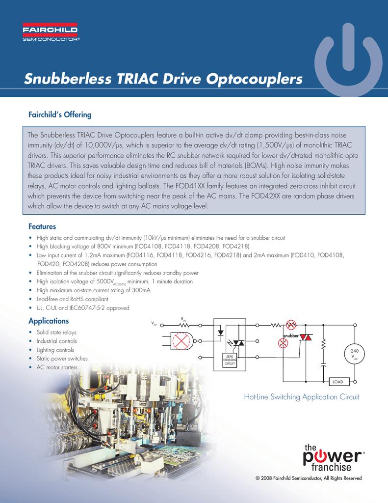 Snubberless Triac Drive Optocouplers Snubber Circuit 018226997 1 D576137561e382ea322831d5c898a4ac