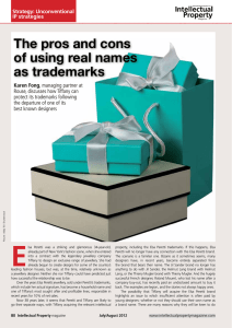 The pros and cons of using real names as trademarks