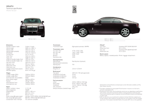 WRAITH Technical specification World Version - Rolls
