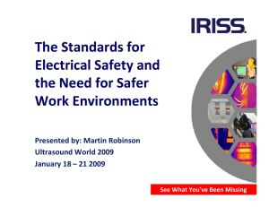The Standards for Electrical Safety and the Need for