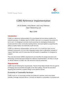 CORD Reference Implementation Requirements, technology