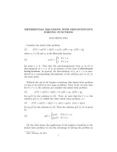 DIFFERENTIAL EQUATIONS WITH DISCONTINUOUS FORCING