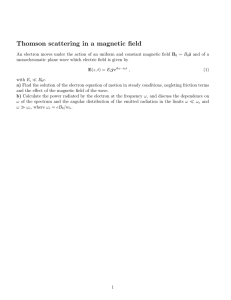 Thomson scattering in a magnetic field