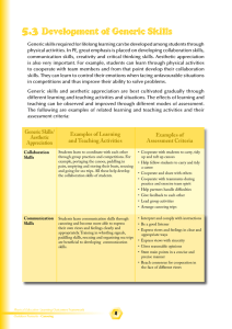 Examples of Assessment Criteria Examples of Learning and