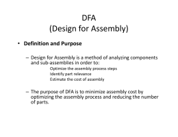 DFA (Design for Assembly)