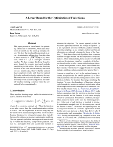 A Lower Bound for the Optimization of Finite Sums