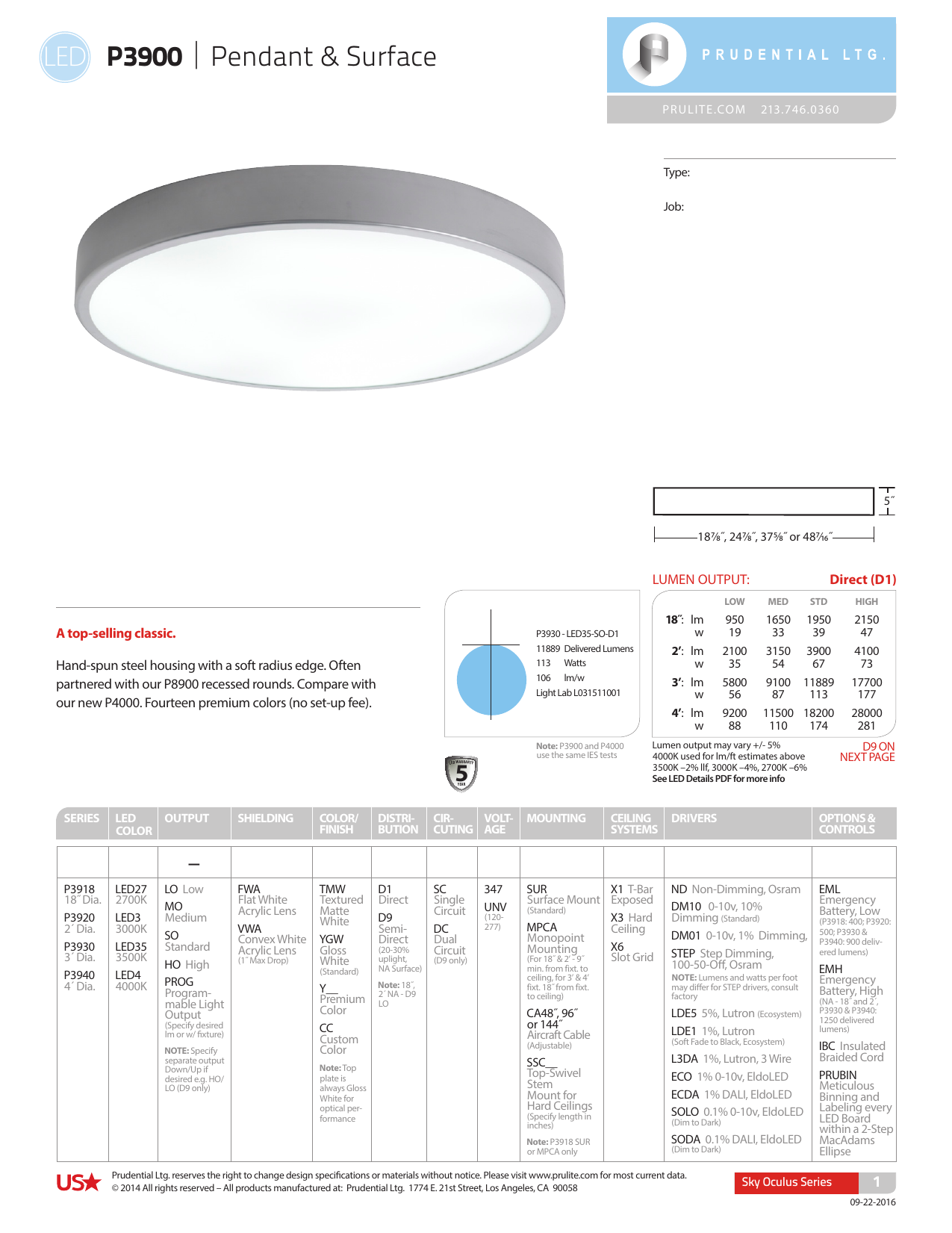 Led Spec Prudential Lighting