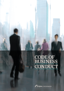 Code of Business ConduCt