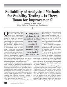 Suitability of Analytical Methods for Stability Testing
