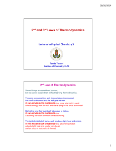 2nd and 3rd Laws of Thermodynamics